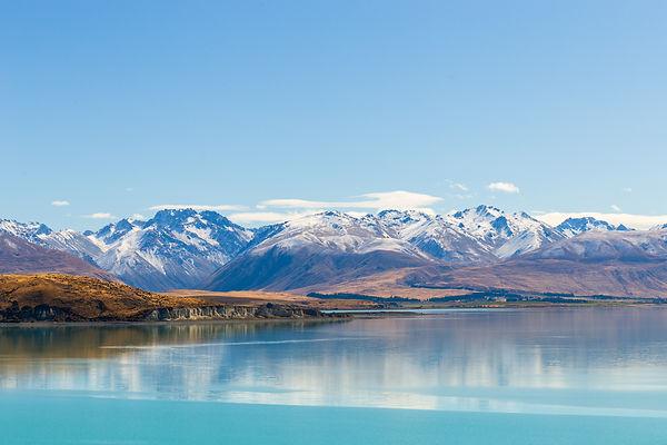 Mountains beside Lake Tekapo