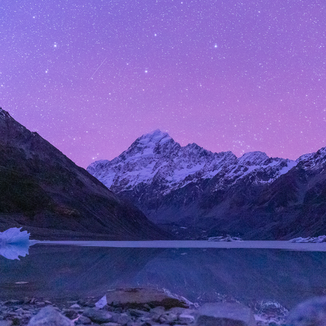 Mount Cook on dusk