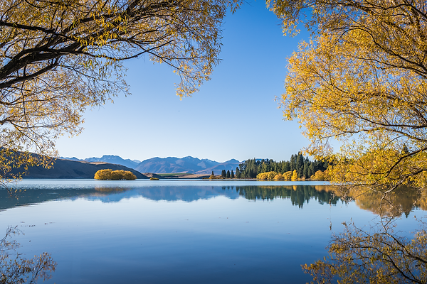 lake tekapo autumn colours