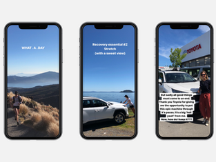 Toyota social media layout