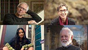 Bill Manhire, Pat White, Rhian Gallagher and Tayi Tibble