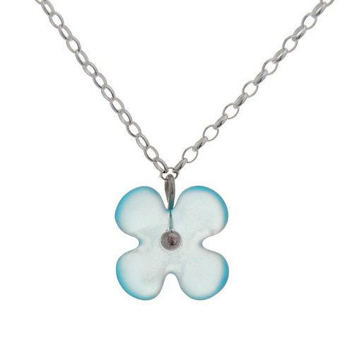Hydrangea Flower Recycled Glass Pendant – Stone Arrow