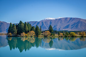 autumn reflections lake ruataniwha