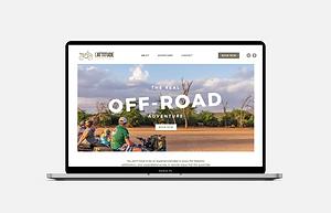 website portfolio lattitude adventures website