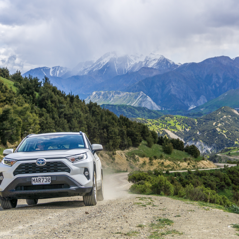 Off-road in the RAV4