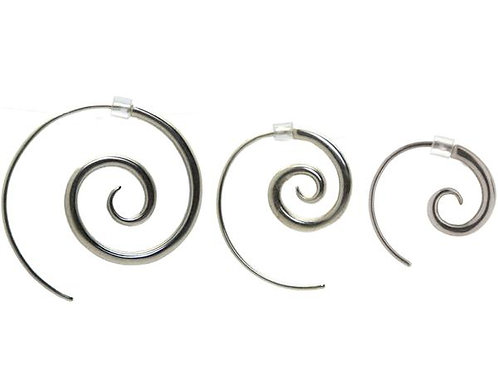Spiral Sterling Silver Earrings – Stone Arrow