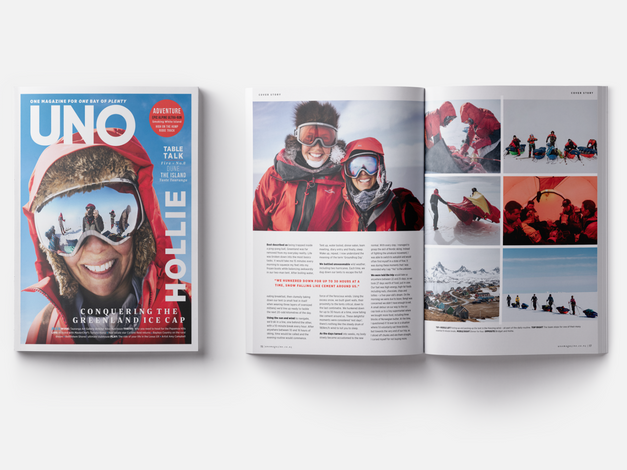 Uno magazine layout