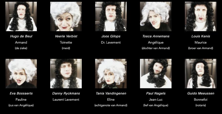 Cast De Ingebeelde Zieke 2019