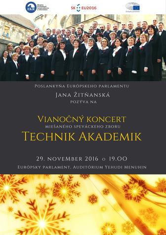Vianočný koncert miešaného speváckeho zboru Technik Akademik