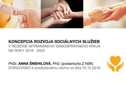 Koncepcia rozvoja sociálnych služieb v regióne Nitrianskeho samosprávneho kraja na roky 2018 - 2023