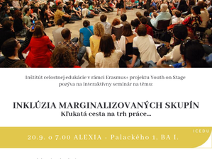 YOUTH on stage: Pozvánka na seminár