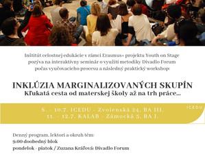 YOUTH on stage: Pozvánka na seminár