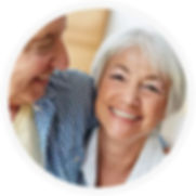 smiling woman with dentures
