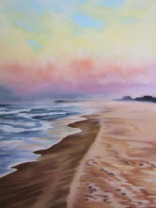 Misty Beach Morning