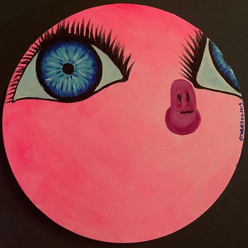 Eduardo Echeverría - Pork planet emoji on black