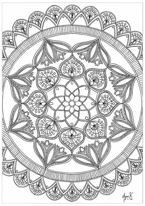 Mandala 3, A4 arkki
