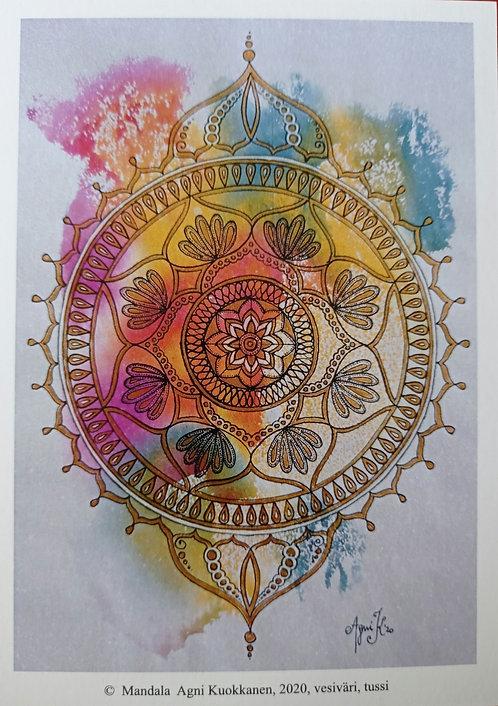 Mandala, postikortti