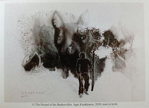 The hound of Baskerville, postcard