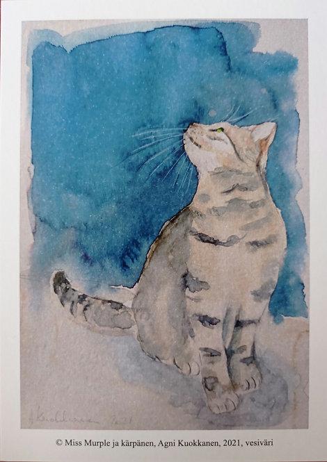 Miss Murple ja kärpänen, postikortti