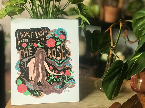 """It Must Have Been The Roses"" - Grateful Dead Song lyric Art"