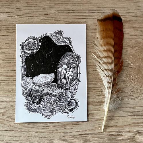 """""""Mushroom Galaxy"""" Art Print"""