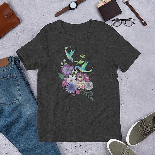 Humming Bird Flower Bouquet T-Shirt