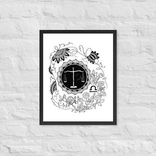 Libra Framed Print