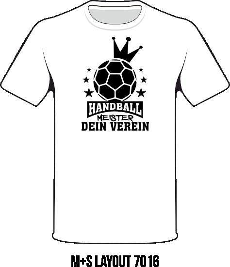 Meister Motive 2016 TRathmakers Shirt 7016 Handball