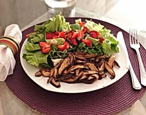 Salada de Alfce om Shitake