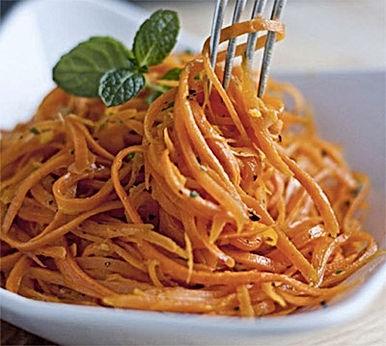 Receita de Spaghetti de Cenoura  | Receitas Fase 3 Thrive programa ZEN BODI | Maria da Graça Congro