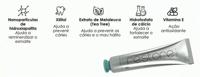 Principais Ingredientes do RESTORE Gel Dental Jeunesse