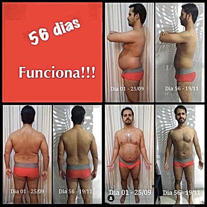 Resultado perda de peo - homem - 56 dias