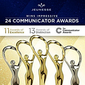 Jeunesse premiada com mais 24 Prêmios | Global Communicator Awards 2019