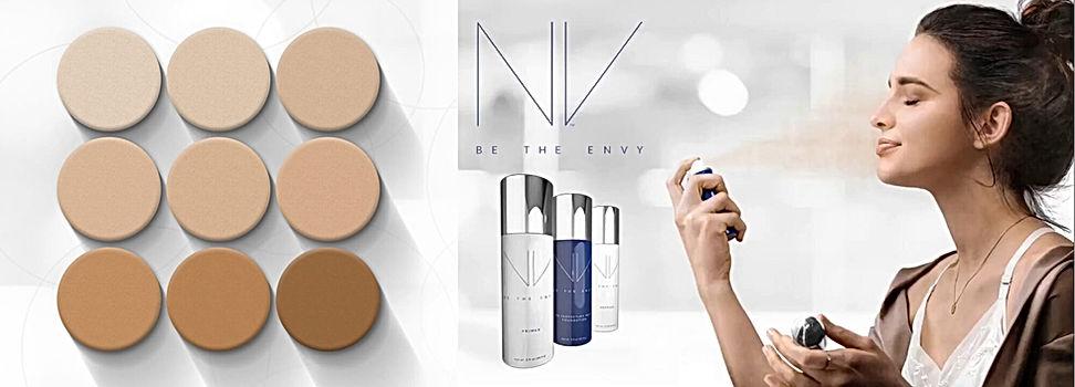 NV oferece 9 cores. Airbrush, evita contaminação na pele.