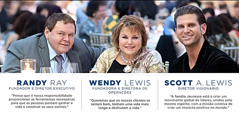 Rand Ray e Wendy Lewis, Fundadores da Jeunesse e Scott Lewis, Diretor Visionário
