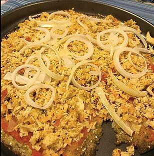 PIZZA DE MASSA DE BRÓCOLIS