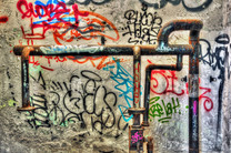GRAFFITI AND WATER PIPES