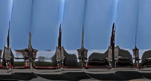 CAR BUMPER REFLECTION