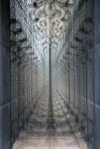 GLASS DOOR MULTIPLE EXPOSURE
