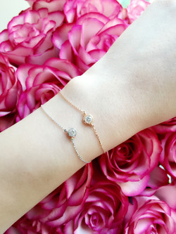 Diamond bracelet & necklace
