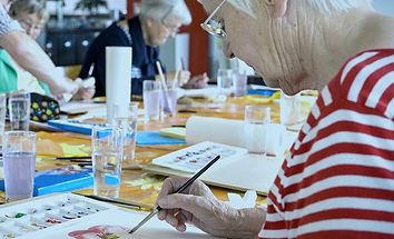 Alzheimer's/Dementia Woman Painting
