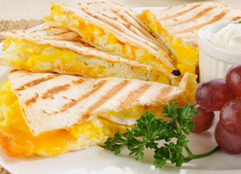 DIY Three Cheese Quesadilla