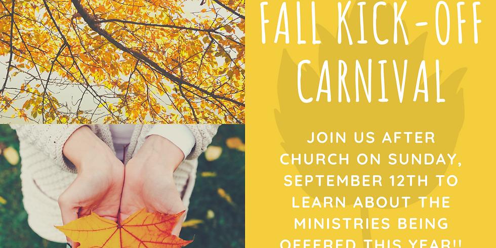 Fall Ministries Kick-Of Carnival