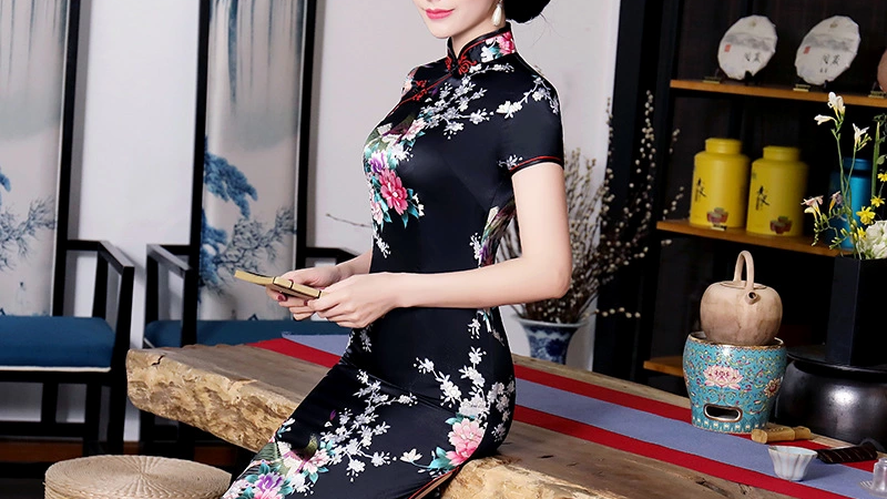 Vintage  Modern Chinese Cheongsam Dress