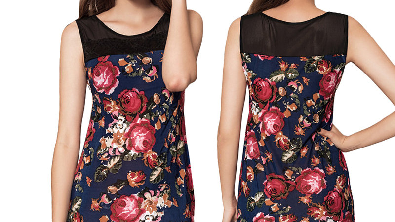 Silky Floral Print Summer Casual Dress