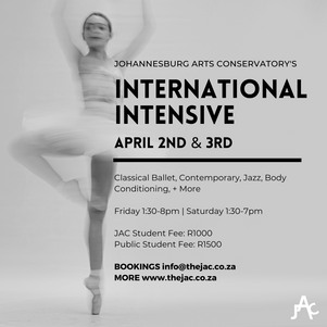 International Intensive April 2nd & 3rd