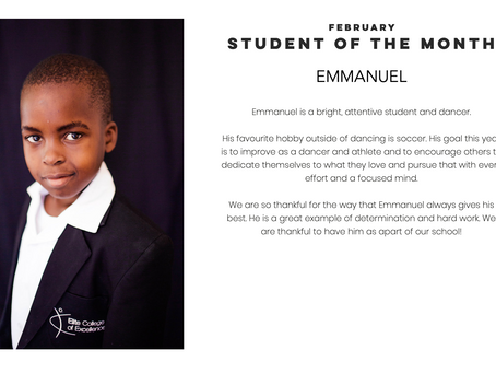 Emmanuel: February Student of the Month