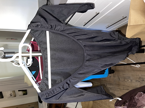 Black 3/4 Sleeve Leotard