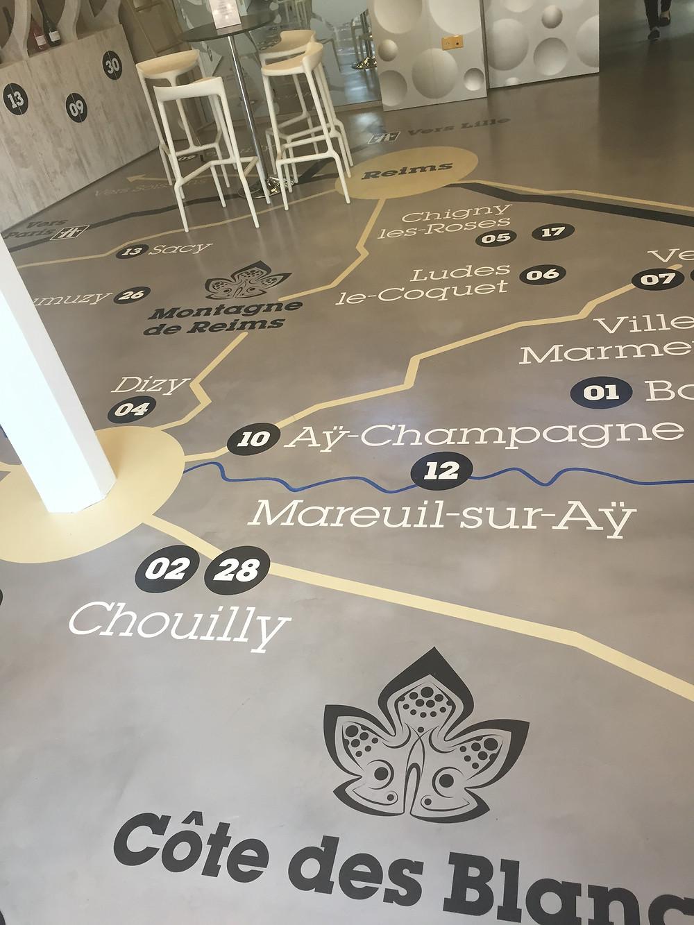 The floor is map