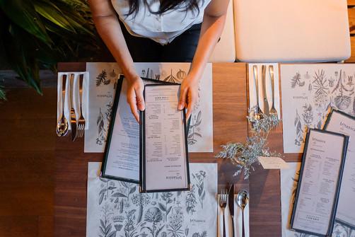 Table Placemats & Menus